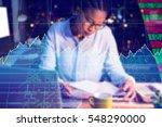 stocks and shares against...   Shutterstock . vector #548290000