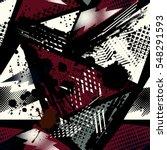 grunge geometric pattern for... | Shutterstock .eps vector #548291593