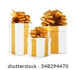 set of festive gifts on white... | Shutterstock . vector #548294470
