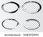 vector frames. ovals for image. ... | Shutterstock .eps vector #548295094