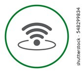 wifi icon vector flat design...   Shutterstock .eps vector #548299834