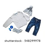 baby clothes  concept of child... | Shutterstock . vector #548299978