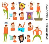 various phobias icons set.... | Shutterstock .eps vector #548302990