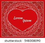 holiday postcard  frame for... | Shutterstock .eps vector #548308090