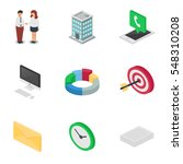 business isometric vector icons ... | Shutterstock .eps vector #548310208