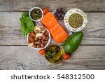 selection of nutritive food  ... | Shutterstock . vector #548312500