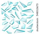 broken glass shards isolated on ... | Shutterstock .eps vector #548313673