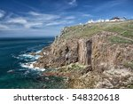 land's end in cornwall  england ...