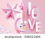 love invitation card valentine... | Shutterstock .eps vector #548321404
