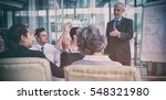 businessman interacting with... | Shutterstock . vector #548321980