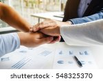 teamwork join hands support... | Shutterstock . vector #548325370