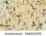 colorful   blur number from 0... | Shutterstock . vector #548331550