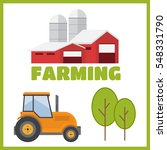 farming and agriculture... | Shutterstock . vector #548331790