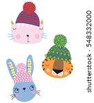 Stock vector cute animals 548332000