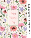 happy valentines day. greeting... | Shutterstock .eps vector #548332174