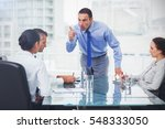 angry executive pointing out... | Shutterstock . vector #548333050