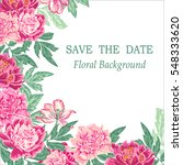 floral vector background with... | Shutterstock .eps vector #548333620