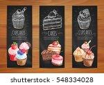cake and cupcake menu...   Shutterstock .eps vector #548334028