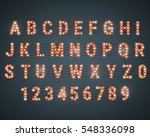 alphabet with light bulbs.... | Shutterstock .eps vector #548336098