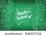 back to school | Shutterstock .eps vector #548337136