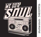 soul music typography  tee... | Shutterstock .eps vector #548339956