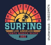 california surf typography  tee ... | Shutterstock .eps vector #548339974