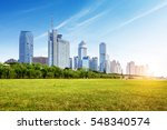 the city's riverside lawn  blue ... | Shutterstock . vector #548340574