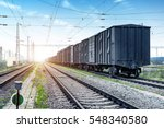 railway truck parked at the... | Shutterstock . vector #548340580