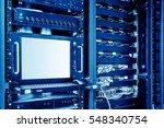 rackmount led console in server ... | Shutterstock . vector #548340754