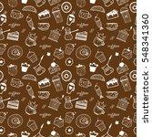 seamless coffee pattern | Shutterstock .eps vector #548341360