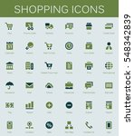 shopping services and finance... | Shutterstock .eps vector #548342839