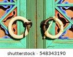 the door knob on the pillar....   Shutterstock . vector #548343190