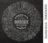 chalkboard vector hand drawn... | Shutterstock .eps vector #548356354