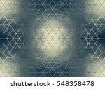 white polygonal triangle... | Shutterstock . vector #548358478