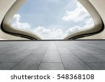 empty floor and modern... | Shutterstock . vector #548368108