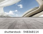 empty floor and modern... | Shutterstock . vector #548368114