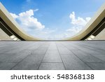 empty floor and modern... | Shutterstock . vector #548368138