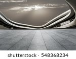 empty floor and modern... | Shutterstock . vector #548368234
