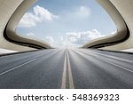 asphalt road in front of modern ... | Shutterstock . vector #548369323