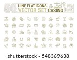 vector graphic set of icons in... | Shutterstock .eps vector #548369638