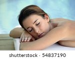 portrait of a young woman lying ... | Shutterstock . vector #54837190