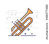 vector icon of the trumpet on...   Shutterstock .eps vector #548377480