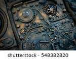 stylized of a steampunk... | Shutterstock . vector #548382820