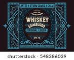 vintage badge for whiskey... | Shutterstock .eps vector #548386039