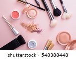 makeup brush and cosmetics | Shutterstock . vector #548388448