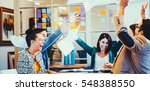 group of business people... | Shutterstock . vector #548388550