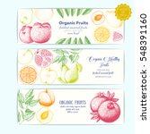 set of banners with hand drawn... | Shutterstock .eps vector #548391160