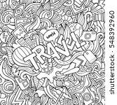 cartoon cute doodles hand drawn ...   Shutterstock .eps vector #548392960