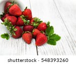 Ripe Strawberries On A Old...