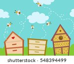 colorful illustration featuring ... | Shutterstock .eps vector #548394499